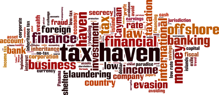 inheritance: Tax haven word cloud concept. Vector illustration Illustration