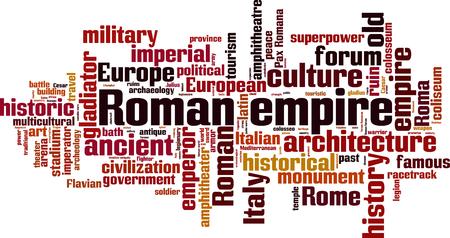 trajan: Roman empire word cloud concept. Vector illustration