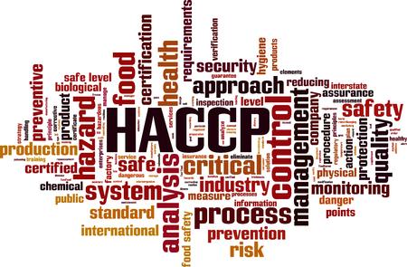 HACCP woord cloud concept. Vector illustratie