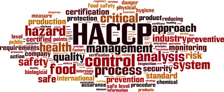 HACCP word cloud concept. Vector illustration