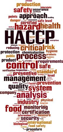 parola HACCP concetto di cloud. illustrazione di vettore Vettoriali