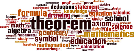 doctrine: Theorem word cloud concept. Vector illustration