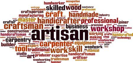 artisan: Artisan word cloud concept. Vector illustration