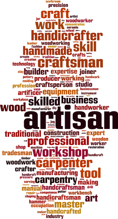 Artisan word cloud concept. Vector illustration