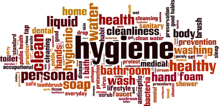 Hygiene word cloud concept. Vector illustration