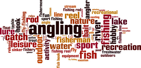 Angling word cloud concept. Vector illustration