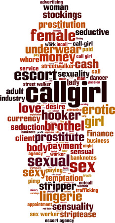 Callgirl word cloud concept. Vector illustration Illustration