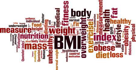 BMI word cloud concept. Vector illustration Illustration