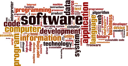 Software word cloud concept. Vector illustration 向量圖像