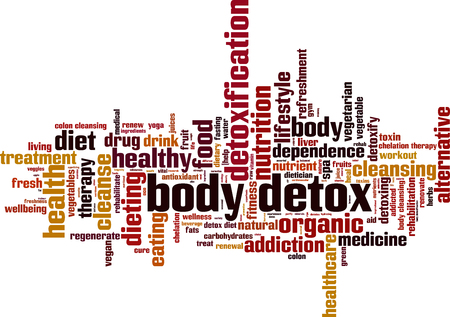 chelation: Body detox word cloud concept. Vector illustration Illustration