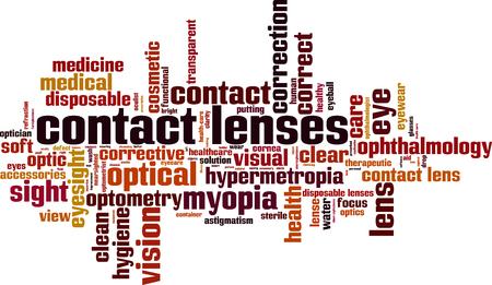 Contact lenses cloud concept. Vector illustration
