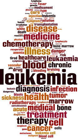 leukemia: Leukemia cloud concept. Vector illustration Illustration