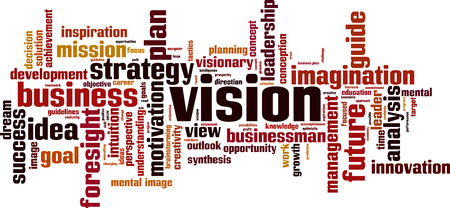 Vision word cloud concept. Vector illustration