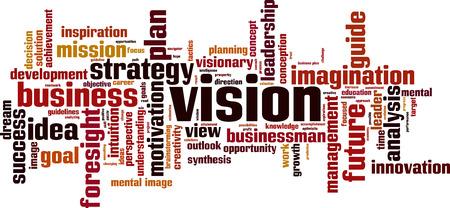Vision word cloud concept. Vector illustration Vektoros illusztráció