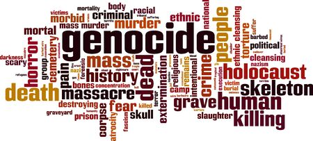 genocide: Genocide word cloud concept. Vector illustration