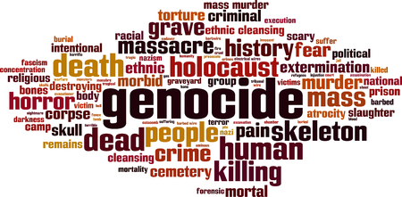 Genocide word cloud concept. Vector illustration