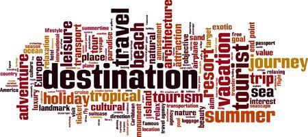 Destination word cloud concept. Vector illustration