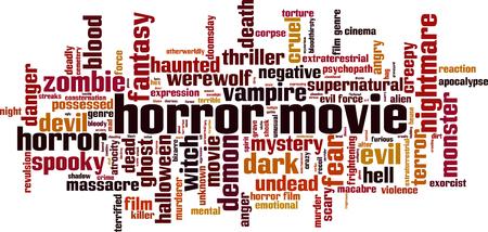 revulsion: Horror movie word cloud concept. Vector illustration Illustration
