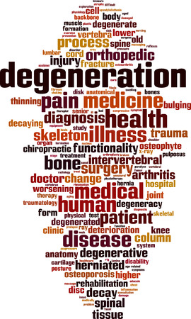 Degeneration word cloud concept. Vector illustration