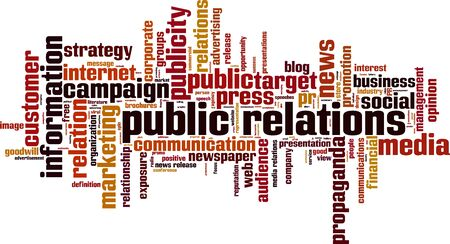 free image: Public relations word cloud concept. Vector illustration Illustration