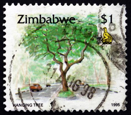 commemorate: ZIMBABWE - CIRCA 1995: a stamp printed in Zimbabwe shows Hanging tree, circa 1995