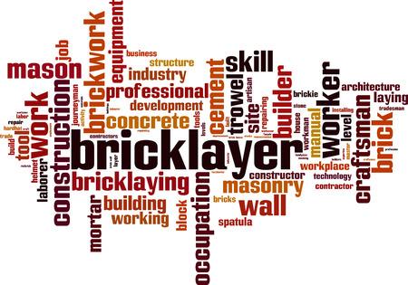 Bricklayer word cloud concept. Vector illustration Illustration