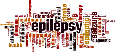 Epilepsy word cloud concept. Vector illustration