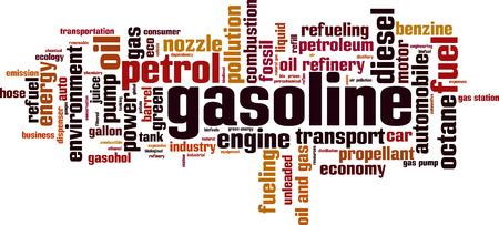 propellant: Gasoline word cloud concept. Vector illustration