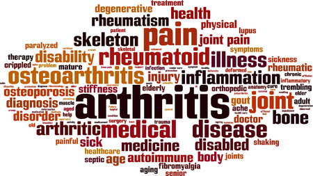 Concept de nuage de mots d'arthrite. Illustration vectorielle Vecteurs
