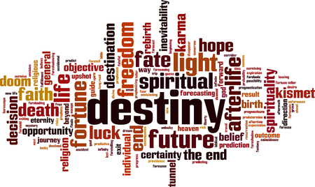 Destiny word cloud concept. Vector illustration Illustration