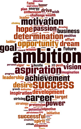 Ambition word cloud concept. Illustration