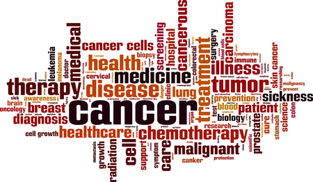 Cancer word cloud concept. Vector illustration Illustration