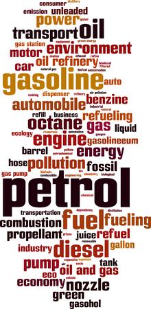 propellant: Petrol word cloud concept. Vector illustration