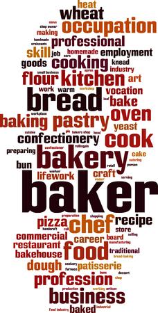 lifework: Baker word cloud concept. Vector illustration