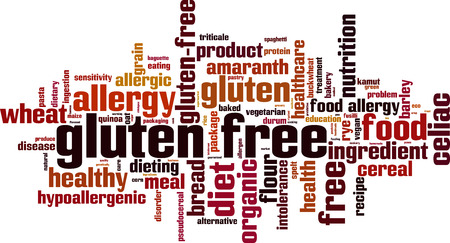 spelt: Gluten free word cloud concept. Vector illustration Illustration