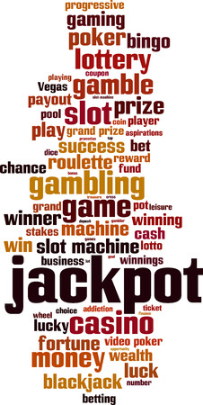 Jackpot word cloud concept. Vector illustration