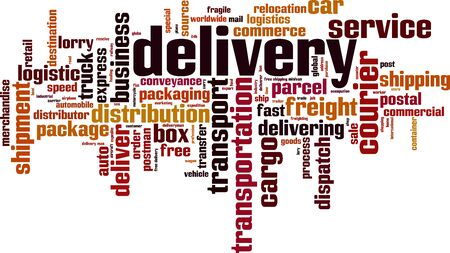 Delivery word cloud concept. Vector illustration