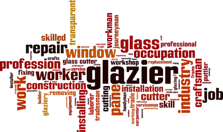Glazier word cloud concept. Vector illustration Illustration