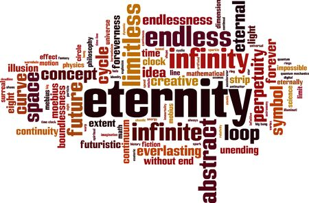everlasting: Eternity word cloud concept. Vector illustration