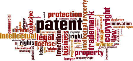 Patent word cloud concept. Vector illustration
