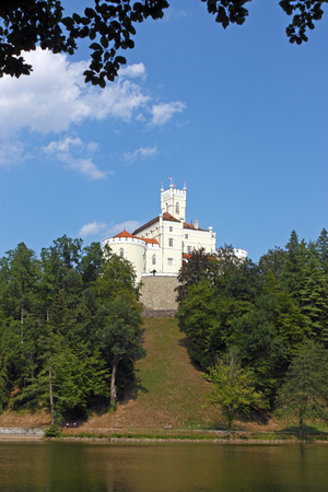 northwest: Trakoscan, castle and museum in northwest Croatia, dating from the 13th century