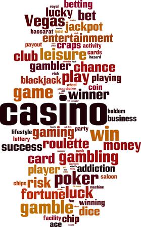 Casino word cloud concept. Vector illustration