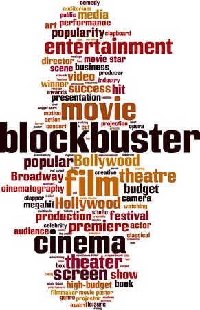 blockbuster: Blockbuster word cloud concept. Vector illustration Illustration