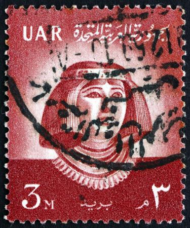 EGYPT - CIRCA 1959: a stamp printed in Egypt shows Princess Nofret, circa 1959