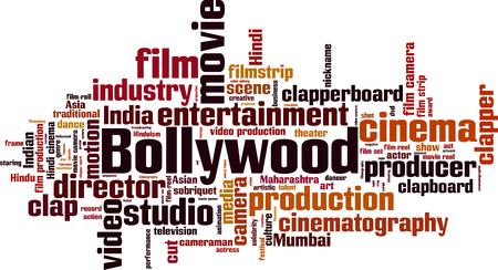 Bollywood word cloud concept. Vector illustration Illustration