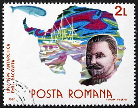 ROMANIA - CIRCA 1986: a stamp printed in Romania shows Emil Racovita, Romanian Scientist and Explorer, Antarctic Expedition, Polar Research, circa 1986