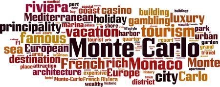 Monte Carlo word cloud concept. Vector illustration Illustration