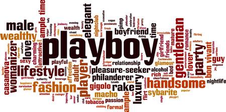socializando: Concepto de la nube de la palabra de Playboy. Ilustración del vector