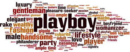 Playboy word cloud concept. Vector illustration
