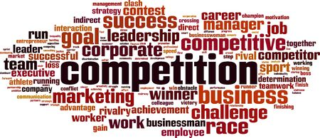 competitors: Competition word cloud concept. Vector illustration
